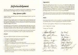 Stiftelsesdokument opslag
